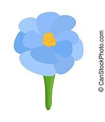 blaues, dekorativ, blume, design