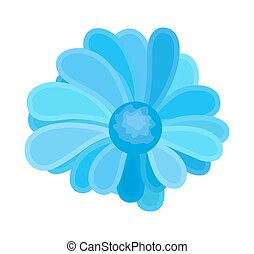 blaues, dekorativ, blume