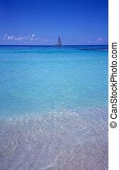 blaues, dominikanisch, -, bayahibe, republik, lagune, sandstrand