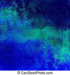 blaues, dunkel, abstrakt, bekümmert, hintergrund