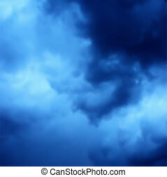 blaues, dunkel, vektor, hintergrund, sky.