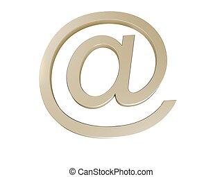 blaues, e-mail, zeichen
