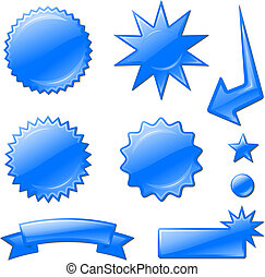 blaues, entwürfe, stern- stoß