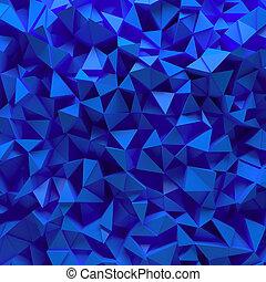 blaues, facettiert, hintergrund, 3d