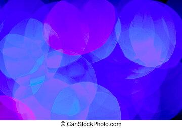blaues, farbe, unscharfer hintergrund, lichter