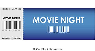 blaues, filmkarte, besondere