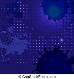 blaues, fleck, hintergrund