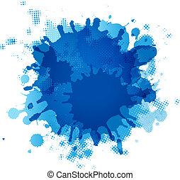 blaues, fleck
