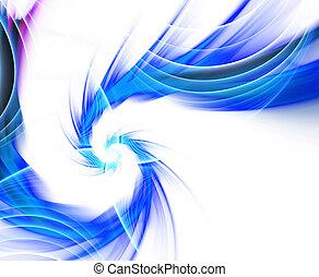 blaues, fractal, wirbel, plasma