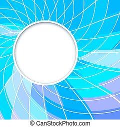 blaues, frame., farbe, abstrakt, form., hintergrund., vektor, violett, circles., kreis, runder