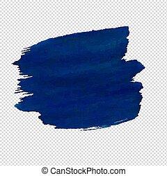 blaues, freigestellt, fleck, hintergrund, durchsichtig
