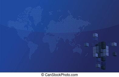 blaues gebäude, geschaeftswelt, hintergrund