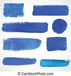 blaues, gemalt, abbildung, banners., vektor, design, dein