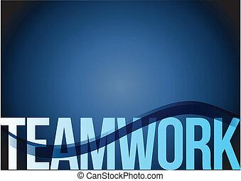 blaues, gemeinschaftsarbeit, geschaeftswelt, welle