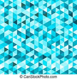 blaues, geometrisch, hintergrund