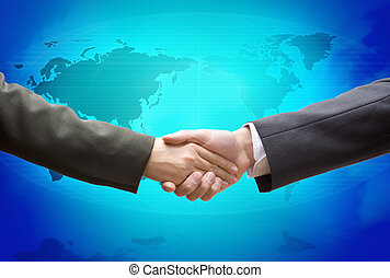 blaues, global, karten geben