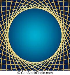 blaues, gold, -, vektor, rasterhintergrund, verzerrt