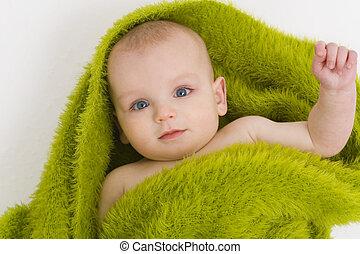blaues grün, äugig