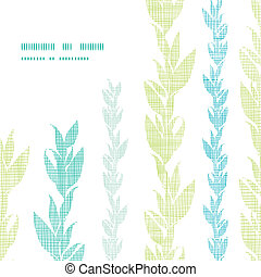 blaues grün, tang, reben, rahmen, ecke, muster, hintergrund