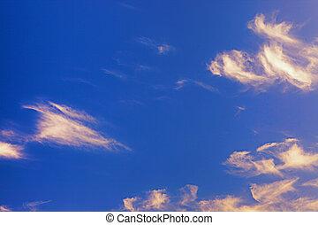 blaues, heller himmel, bunte, hintergrund