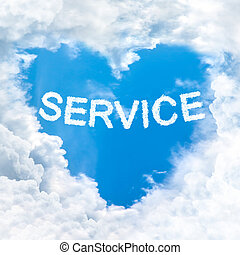 blaues, himmelsgewölbe, Wort,  service