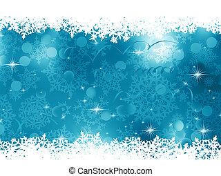 blaues, hintergrund., eps, weihnachten, 8