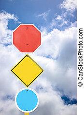 blaues, hintergrund,  signage, himmelsgewölbe, gerichtet