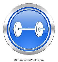 blaues, ikone, fitness, taste