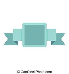 blaues, ikone, stil, etikett, wohnung