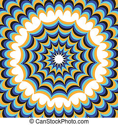 blaues, illusion), (motion, fantasie