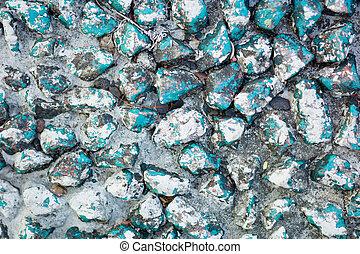 blaues, indien, steinen