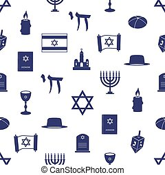 blaues, judentum, muster, seamless, symbole, religion, eps10