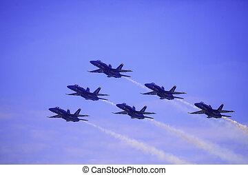 blaues, kaneohe, airshow, engel