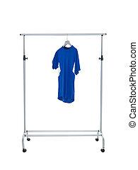 blaues kleid, mã¤nnerhemd, gestell
