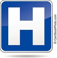 blaues, klinikum, zeichen