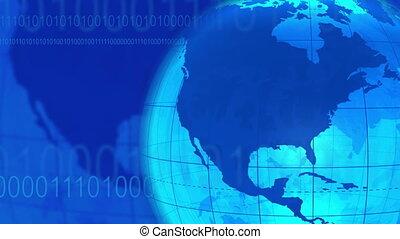 blaues, kommunikation, hintergrund, schleife