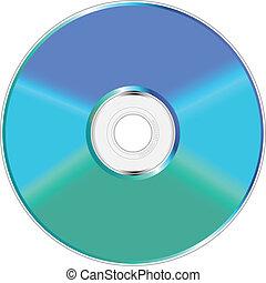 blaues, kompakt, grün, disc.