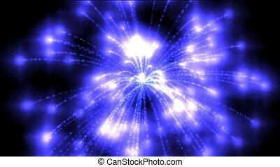 blaues, kreis, feuerwerk