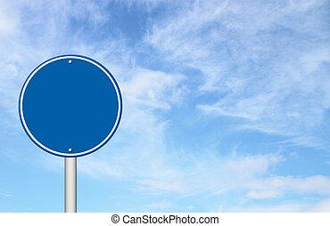 blaues, kreis, leer, himmelsgewölbe, zeichen