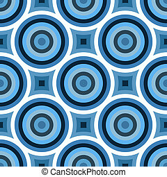 blaues, kreise, funky, muster