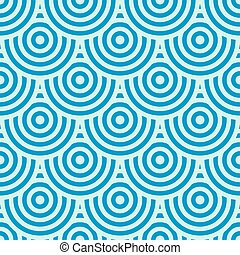 blaues, kreise, hintergrund
