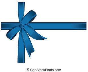 blaues kreuz, geschenkband, und, schleife