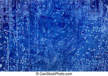 blaues, kunst, winter, beschaffenheit, eis, hintergrund,...