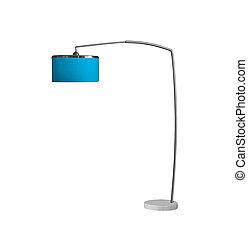 blaues, lampe