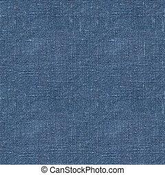 blaues, leinen, seamless, beschaffenheit