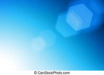 blaues, leuchtsignal, abstrakt, hintergrund