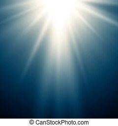 blaues licht, abstrakt, magisches, hintergrund