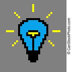 blaues licht, art., pixel, zwiebel