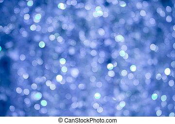 blaues licht, bokeh