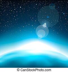 blaues licht, planet